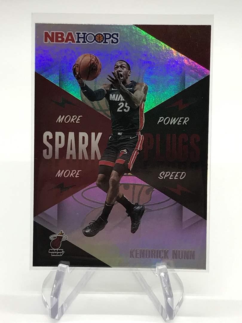 Lot # 172 2020-21 PANINI NBA HOOPS Spark Plugs KENDRICK NUNN (main image)