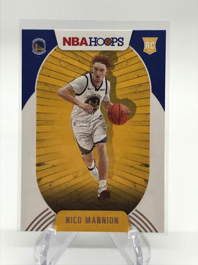 Lot # 176 2020-21 PANINI NBA HOOPS RC NICO MANNION (main image)