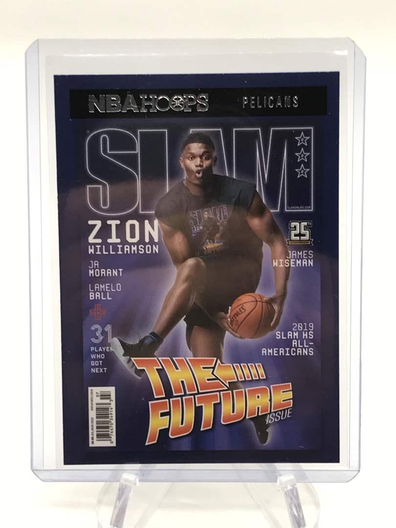 Lot # 177 2020-21 PANINI NBA HOOPS Back To The Future ZION WILLIAMSON  (main image)