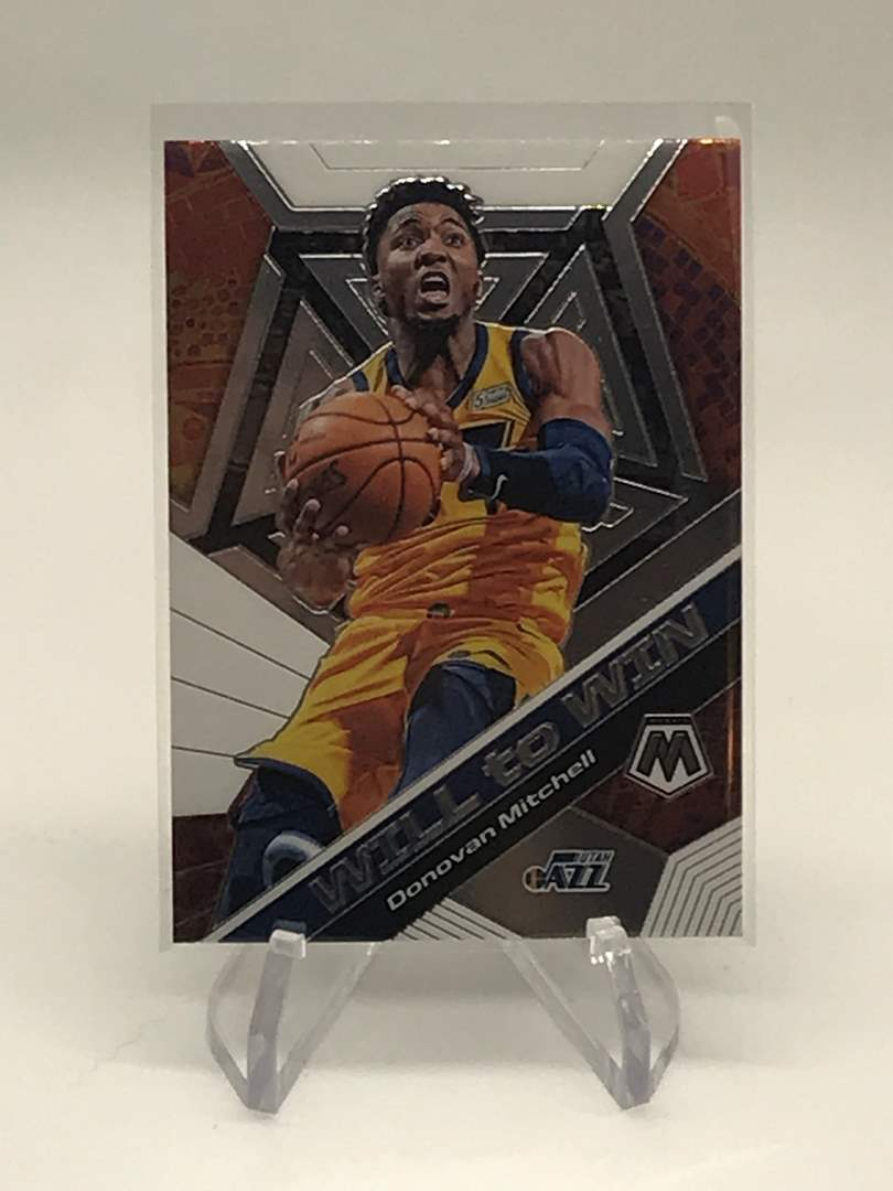 Lot # 200 2019-20 Mosaic Will To Win DONOVAN MITCHELL (main image)