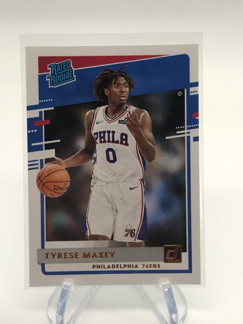 Lot # 223 2020-21 Panini Donruss Rated Rookie TYRESE MAXEY (main image)
