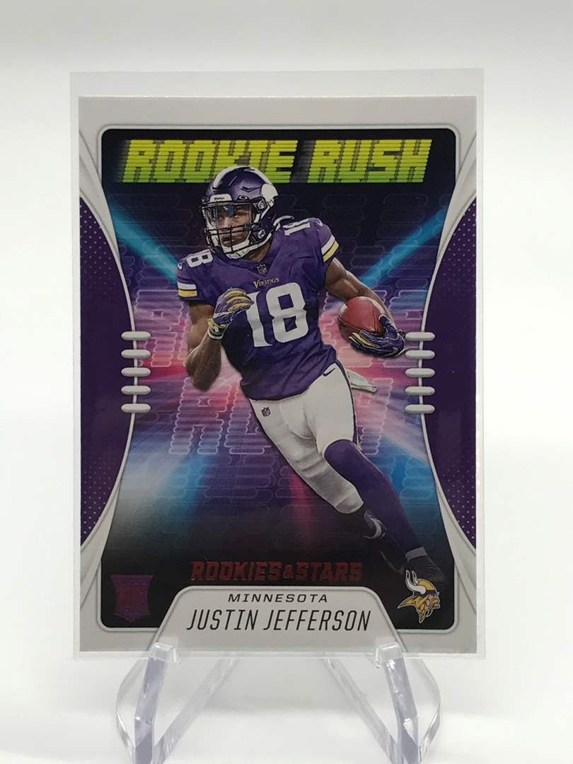Lot # 243 2020 Rookies & Stars Rookie Rush JUSTIN JEFFERSON (main image)