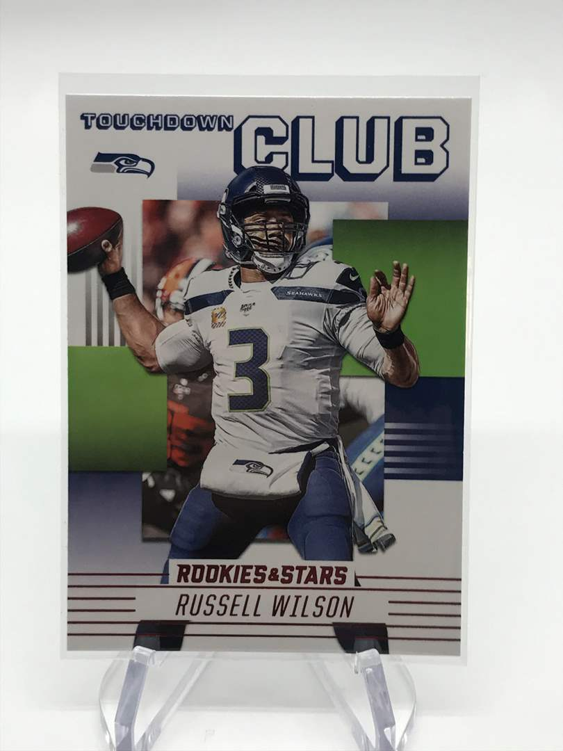 Lot # 257 2020 Rookies & Stars Touchdown Club RUSSELL WILSON (main image)