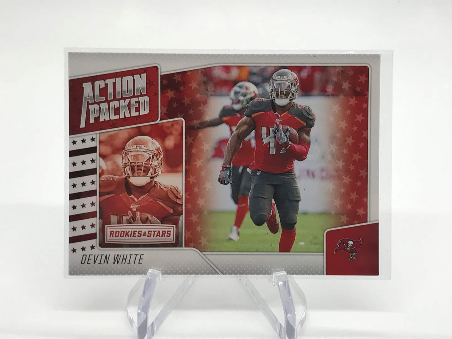 Lot # 264 2020 Rookies & Stars Action Packed DEVIN WHITE (main image)
