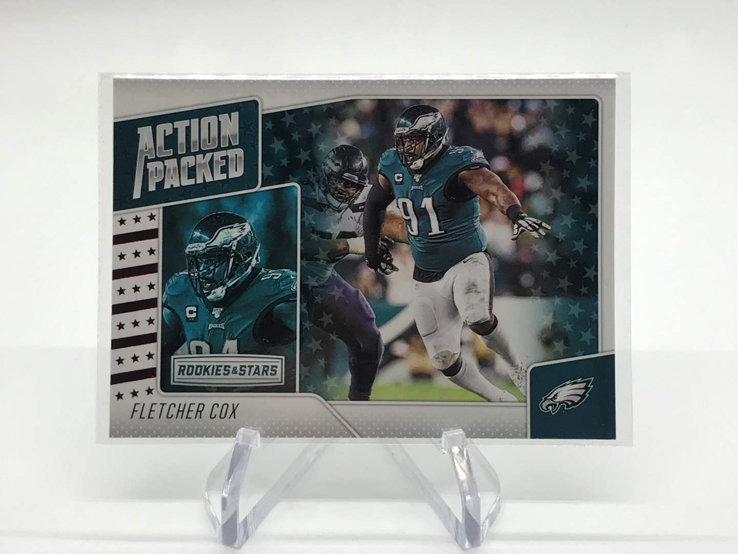 Lot # 265 2020 Rookies & Stars Action Packed FLETCHER COX (main image)