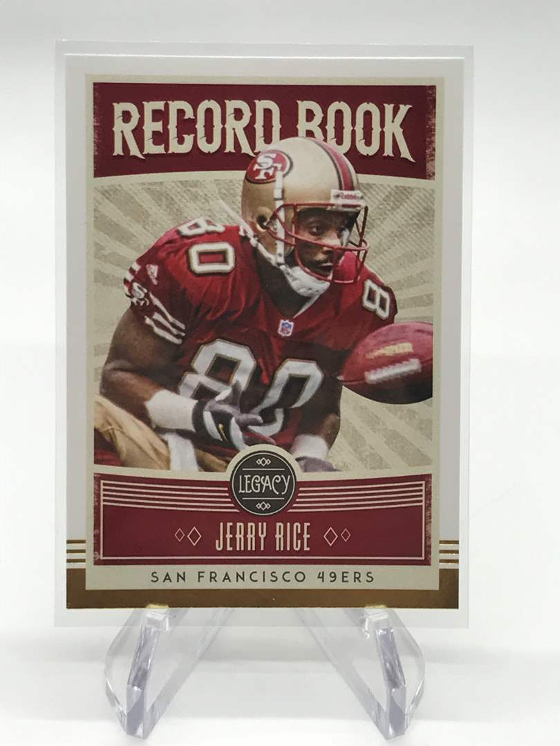 Lot # 277 2020 Panini Legacy Record Book JERRY RICE (main image)