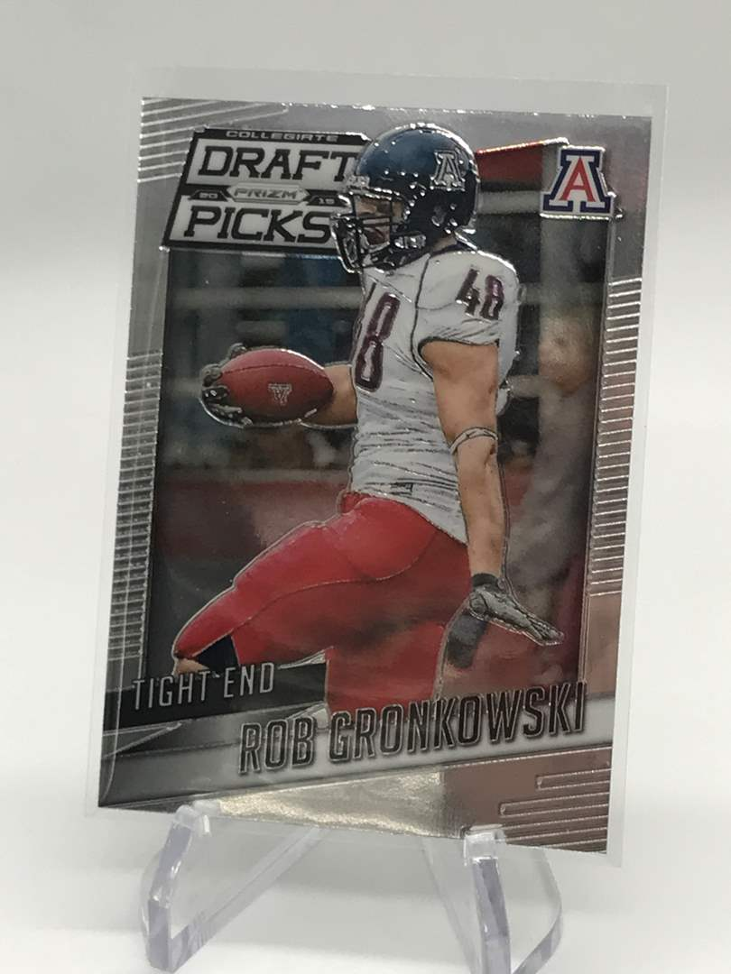 Lot # 295 2015 Panini Prizm Draft Picks ROB GRONKOWSKI (main image)