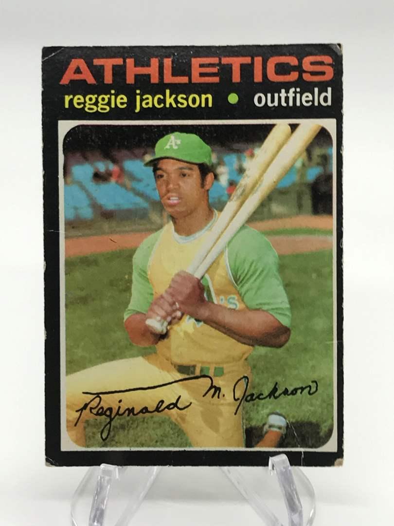 Lot # 301 1971 Topps REGGIE JACKSON (main image)