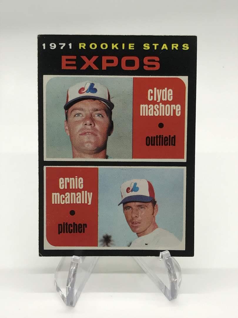 Lot # 306 1971 Topps Rookie Stars CLYDE MASHORE/ERNIE MCANALLY (main image)