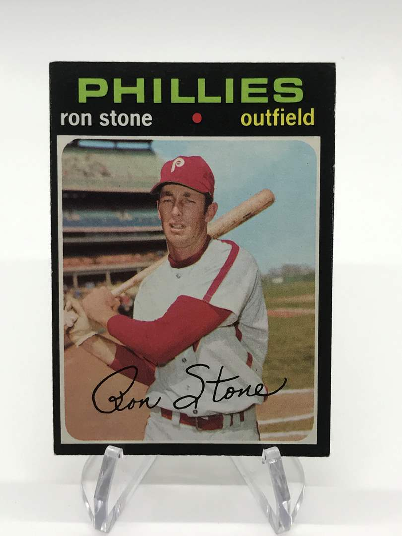 Lot # 315 1971 Topps RON STONE (main image)