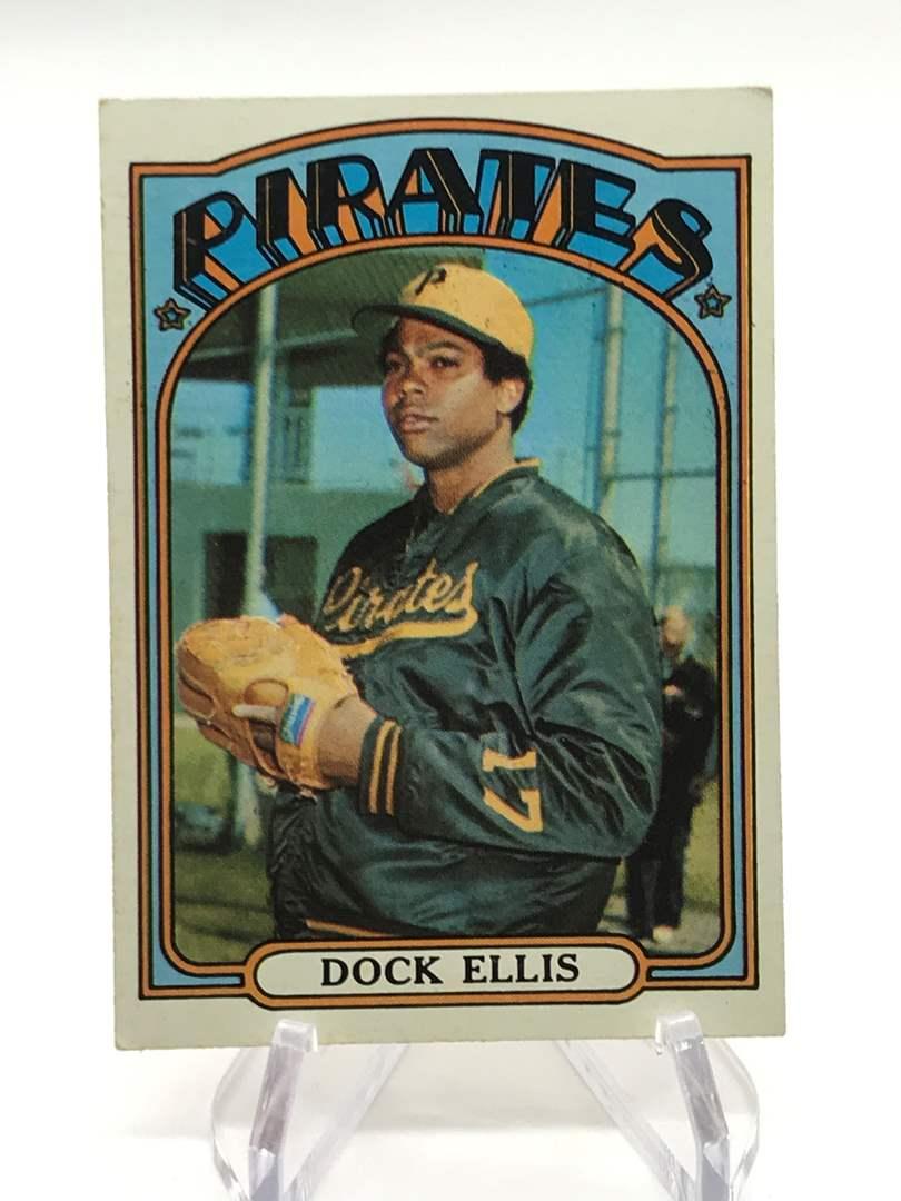 Lot # 330 1972 Topps DOCK ELLIS (main image)