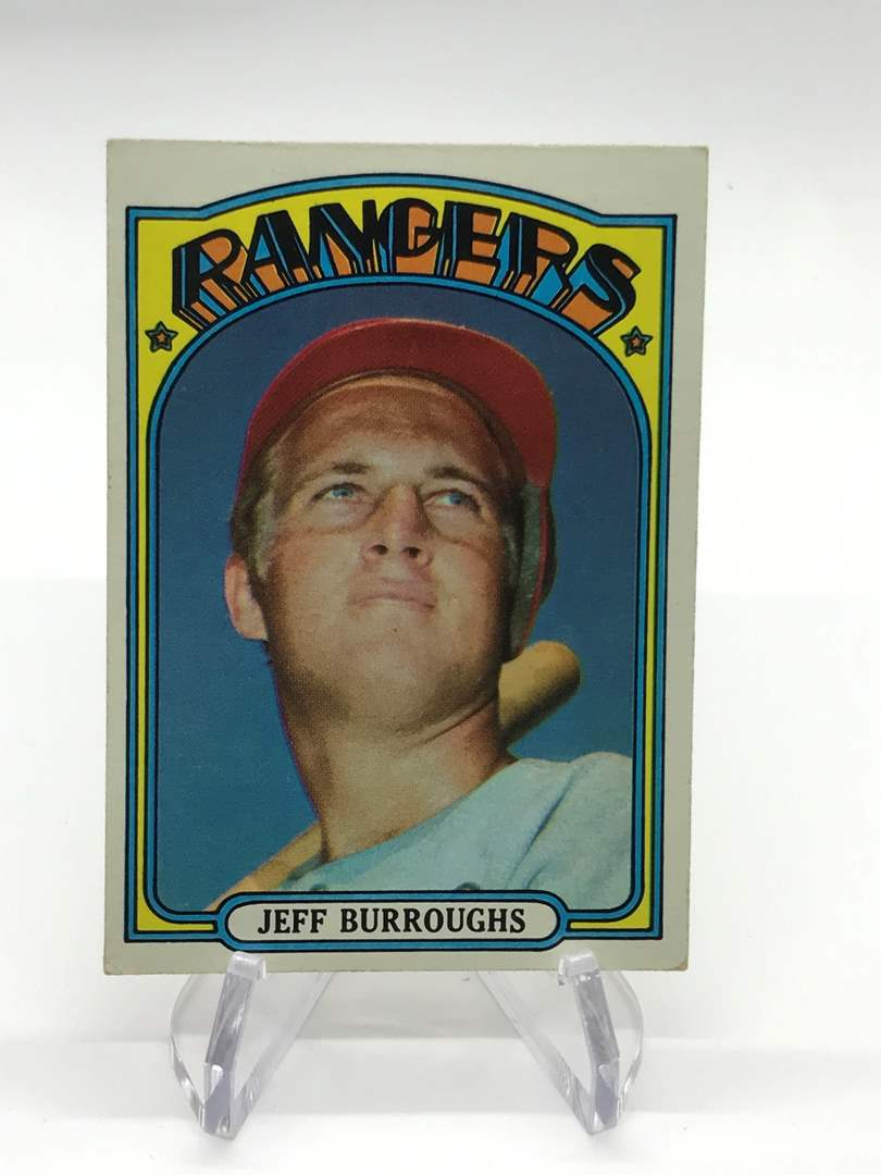 Lot # 335 1972 Topps JEFF BURROUGHS  (main image)