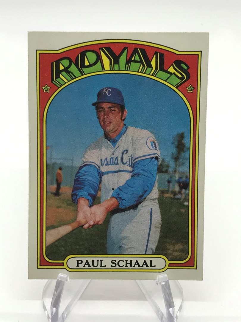 Lot # 336 1972 Topps PAUL SCHAAL (main image)