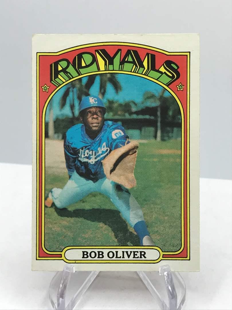 Lot # 341 1972 Topps BOB OLIVER (main image)