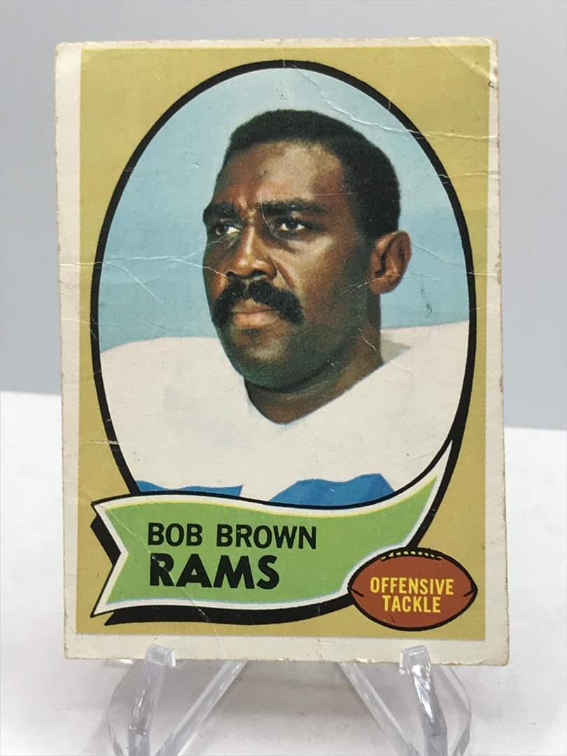 Lot # 346 1970 Topps BOB BROWN (main image)