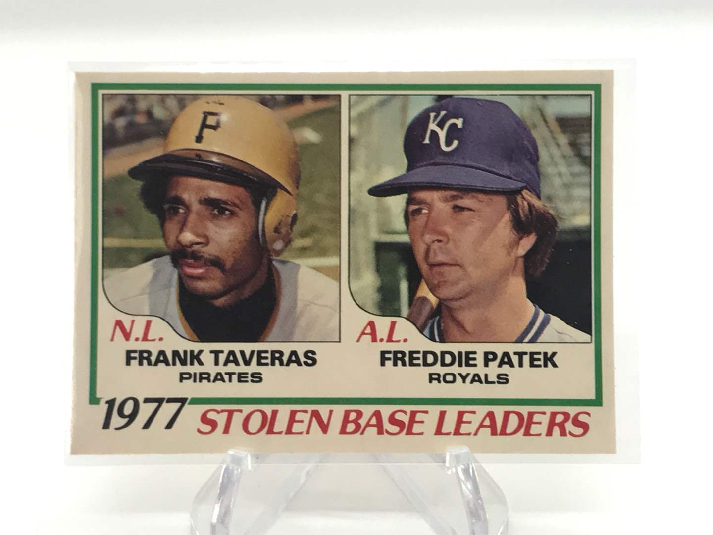 Lot # 243 1978 O-Pee-Chee Stolen Base Leaders FRANK TAVERAS/FREDDIE PATEK (main image)
