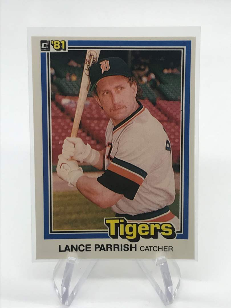 Lot # 250 1981 Donruss LANCE PARRISH (main image)