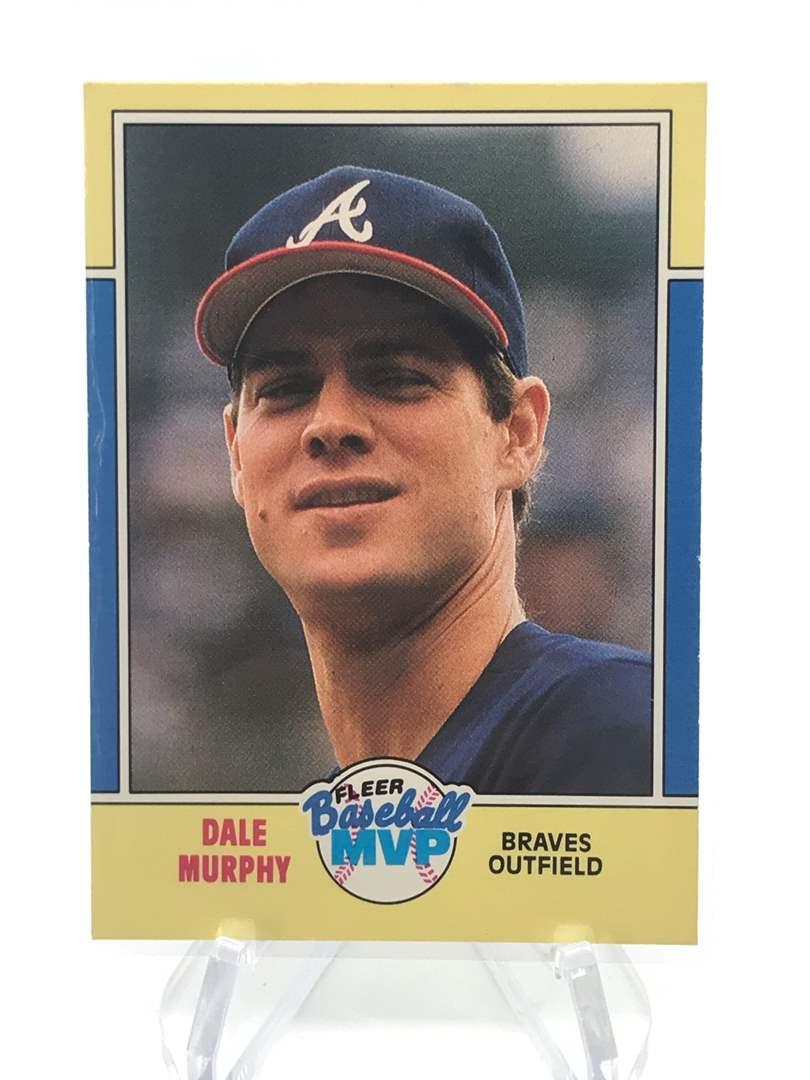 Lot # 252 1988 Fleer MVP DALE MURPHY (main image)