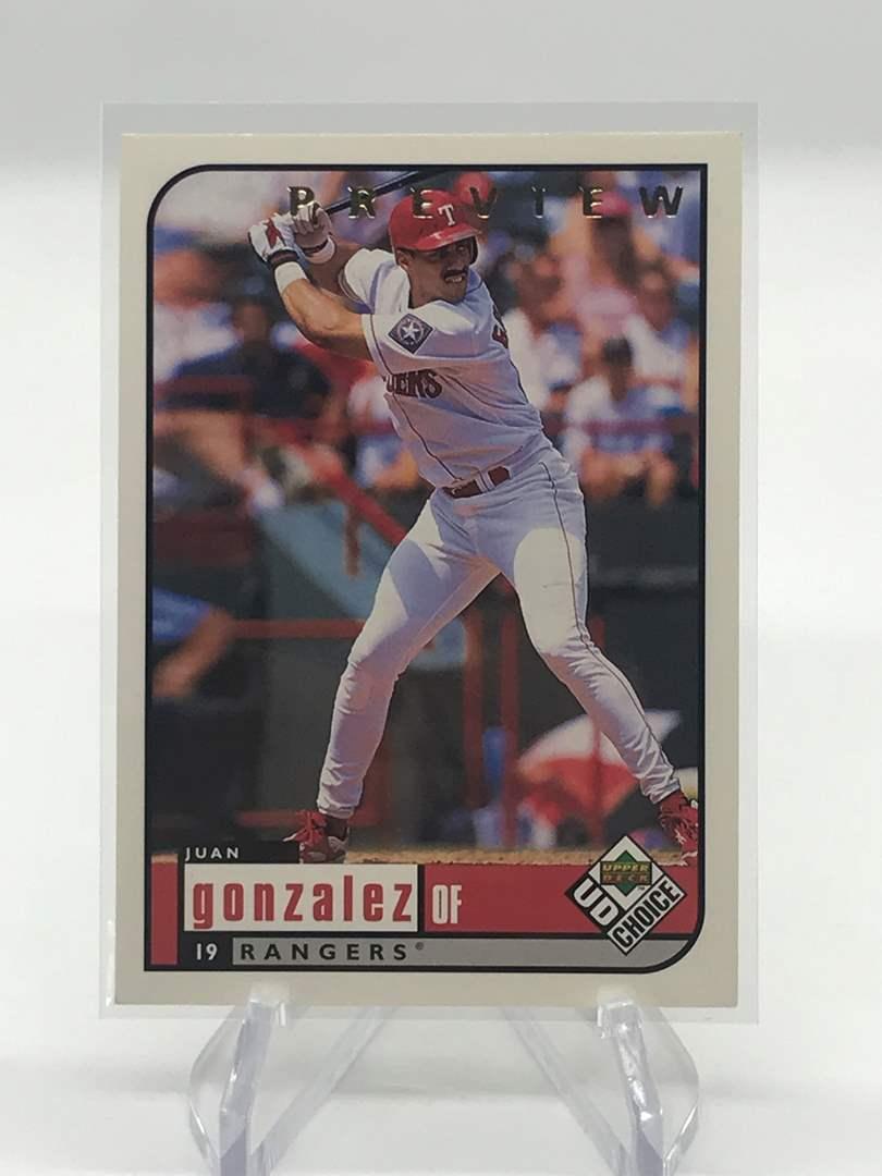 Lot # 263 1999 Upper Deck Choice Preview JUAN GONZALEZ (main image)