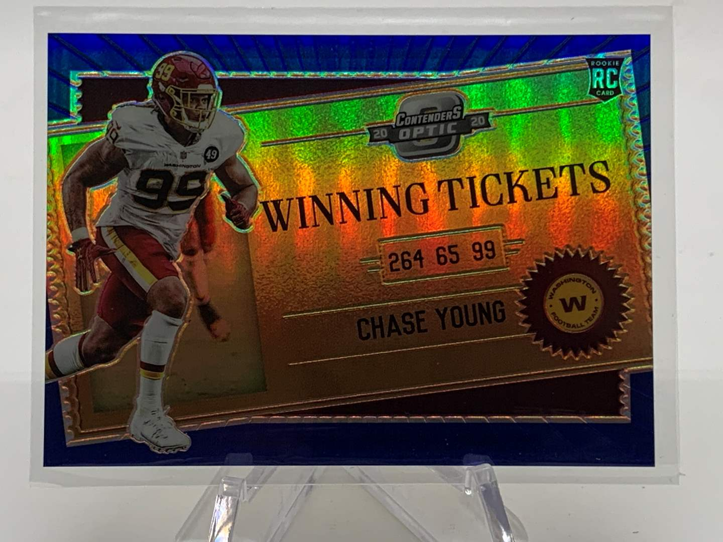 Lot # 2 2020 Panini Contenders Optic CHASE YOUNG Winning Tickets #88/99 (main image)