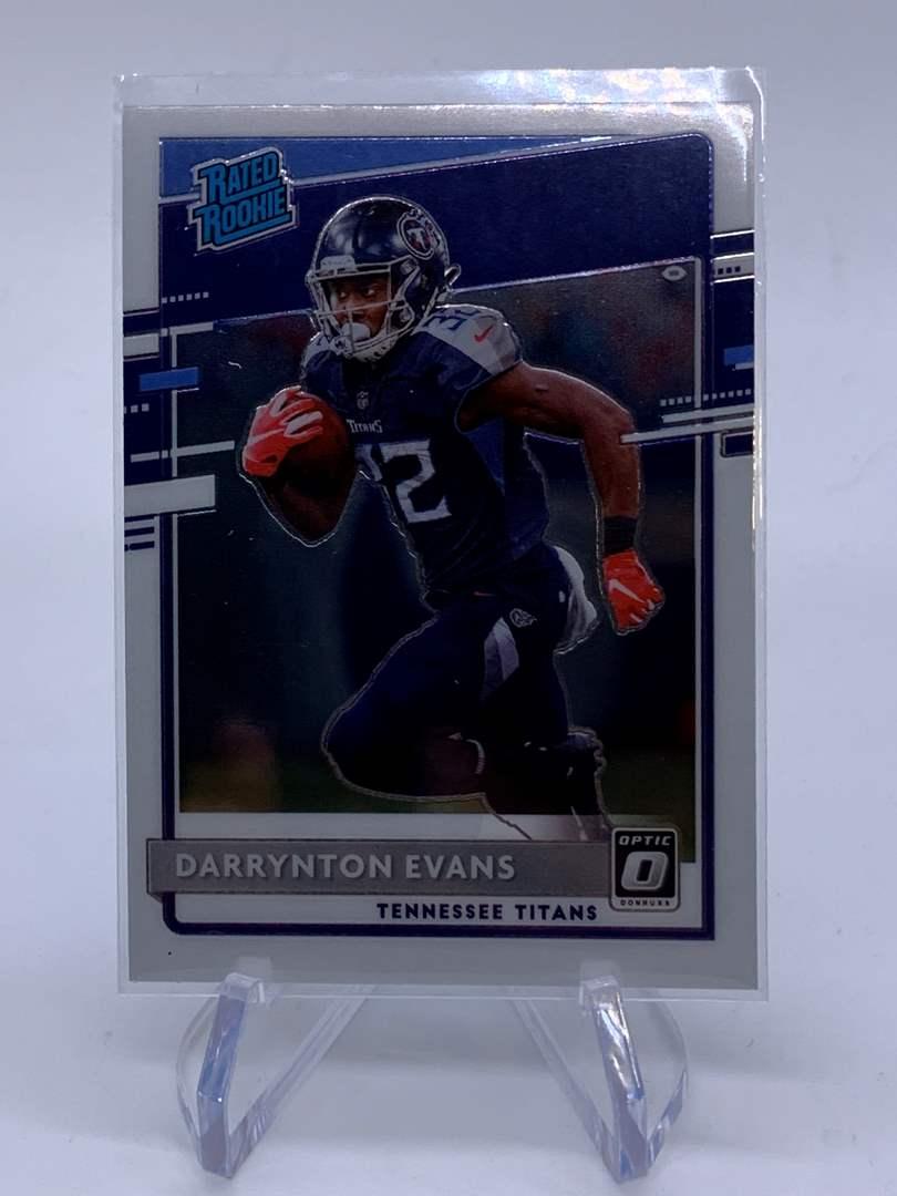 Lot # 93 2020 Panini Donruss Optic DARRYNTON EVANS Rated Rookie Titans (main image)