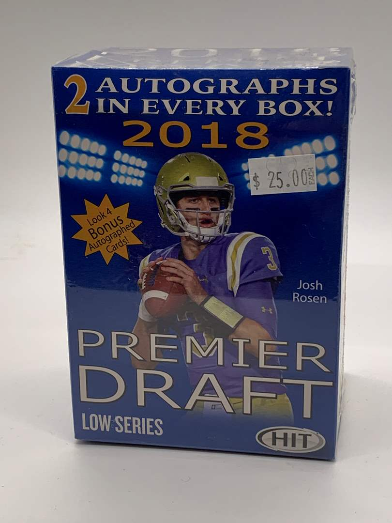 Lot # 106 Sealed Box 2018 Premier Draft Low Series (main image)