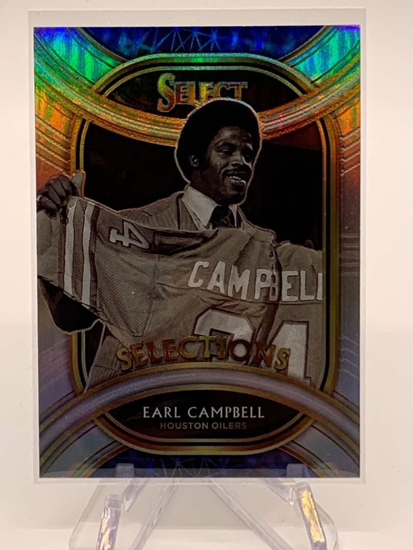 Lot # 119 2020 Panini Select EARL CAMPBELL Selections Oilers (main image)