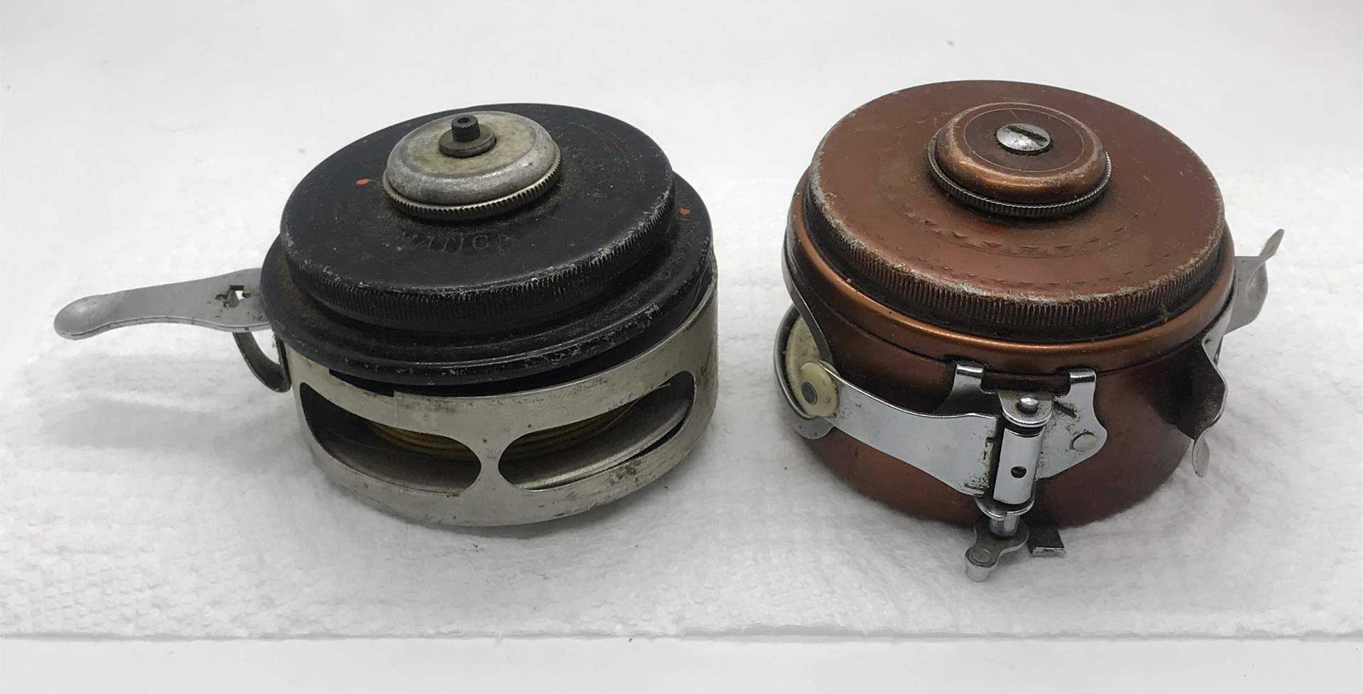 Lot # 56 Lot of two Automatic Fly Fishing Reels-Untested (main image)