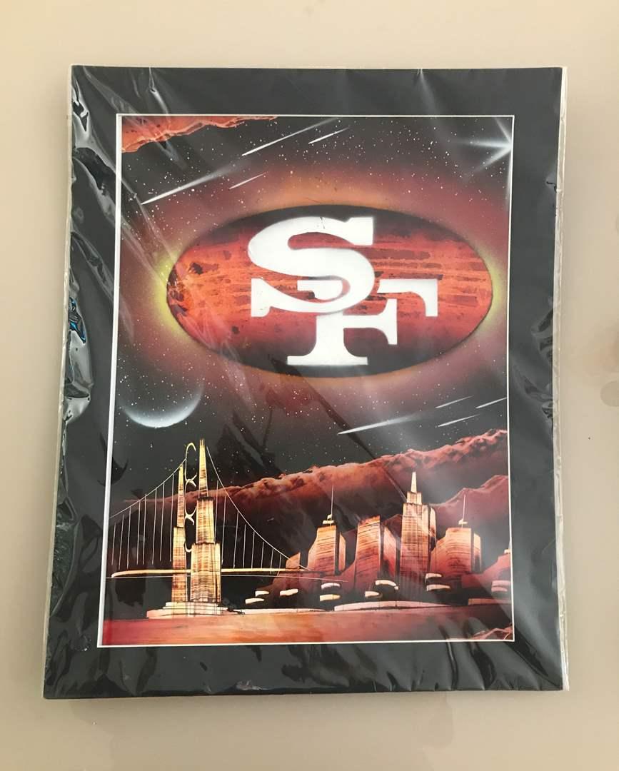 Lot # 64 San Francisco 49er Print in Plastic (main image)