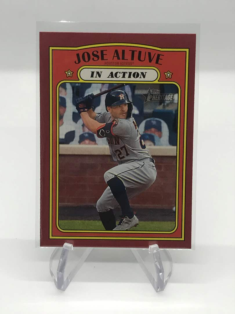 Lot # 211 2021 Topps Heritage In Action JODE ALTUVE (main image)