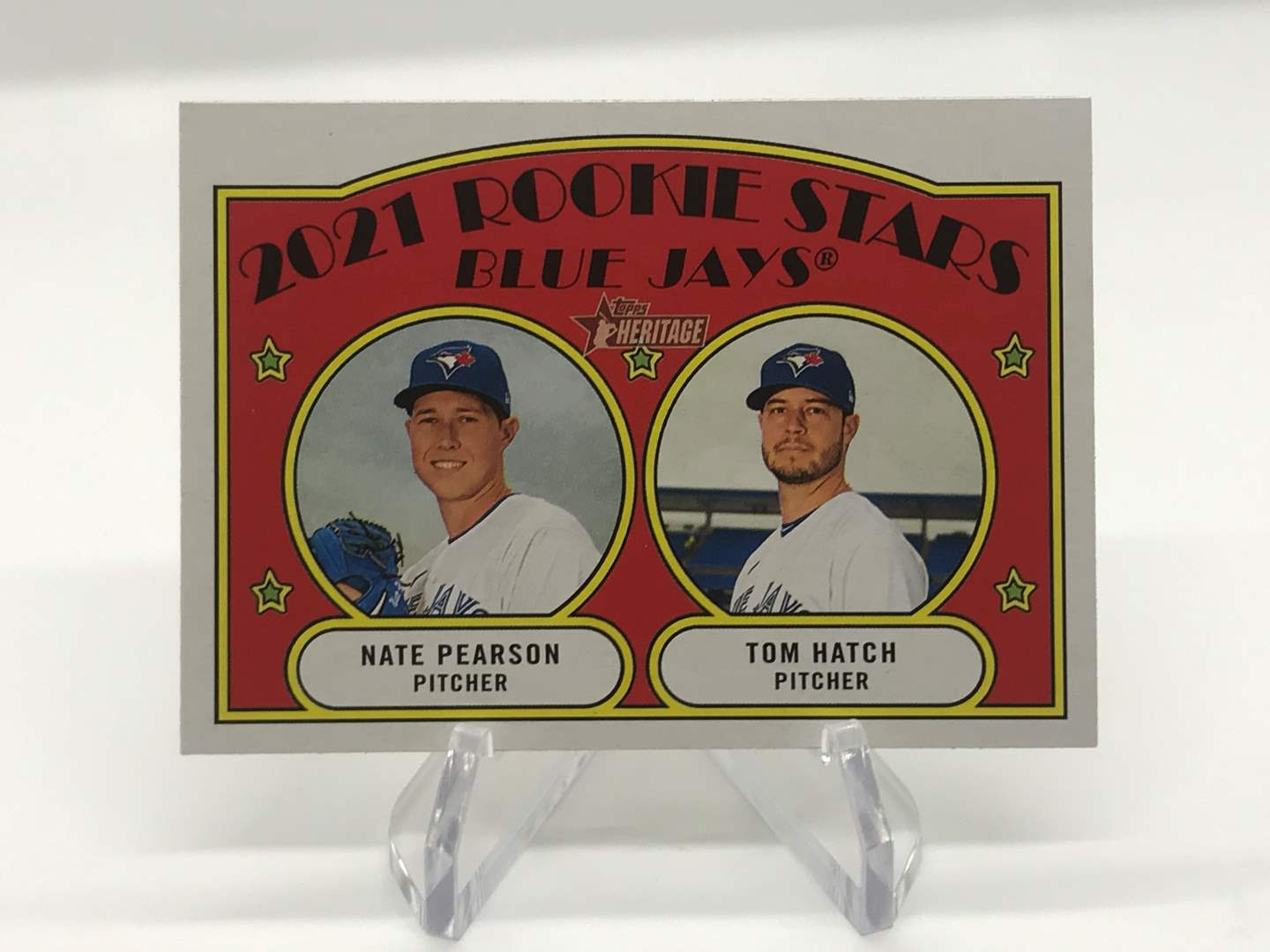 Lot # 219 2021 Topps Heritage Rookie Stars NATE PEARSON/TOM HATCH (main image)