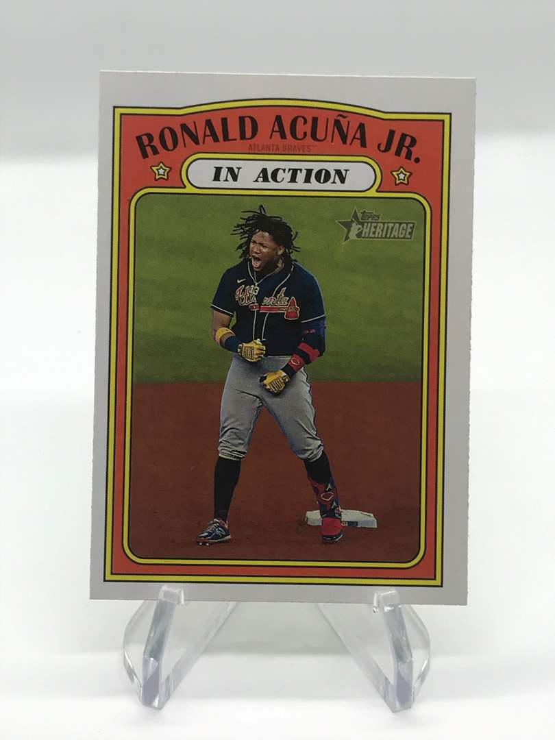 Lot # 224 2021 Topps Heritage In Action RONALD ACUMA JR. (main image)