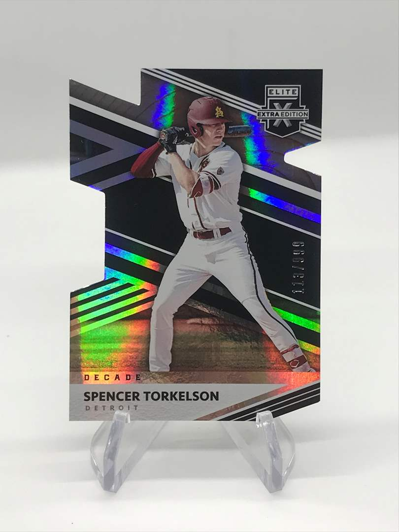 Lot # 233 2020 ELITE EXTRA EDITION  DIE-CUT SPENCER TORKELSON 113/999 (main image)
