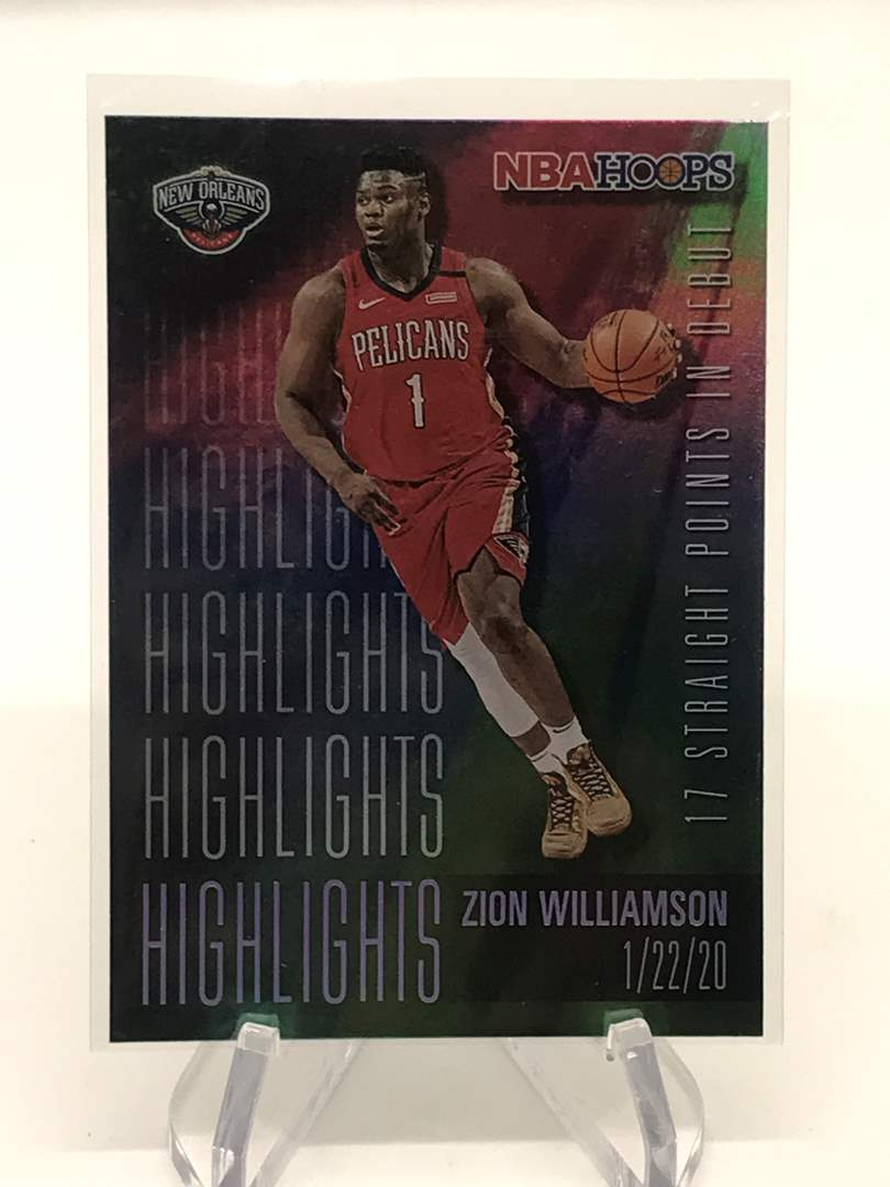 Lot # 237 2020-21 NBA Hoops Foil ZION WILLIAMSON  (main image)