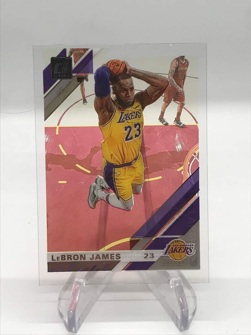 Lot # 246 2019-20 Donruss Clearly LEBRON JAMES (main image)