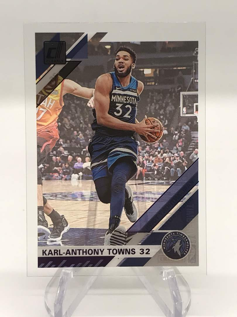 Lot # 251 2019-20 Donruss Clearly KARL-ANTHONY TOWNS (main image)