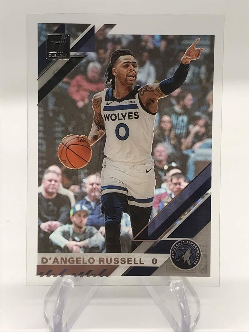 Lot # 253 2019-20 Donruss Clearly D'ANGELO RUSSELL (main image)