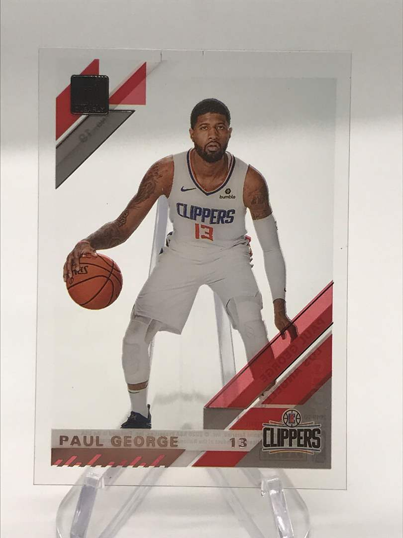 Lot # 255 2019-20 Donruss Clearly PAUL GEORGE (main image)