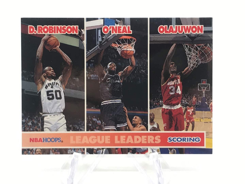 Lot # 258 1994-95 Skybox Hoops League Leaders ROBINSON/O'NEAL/OLAJUWON  (main image)