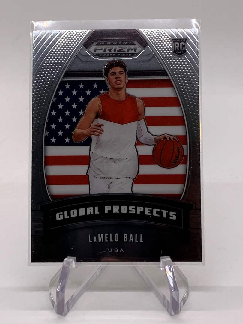 Lot # 4 2020 Panini Prizm Drafts LAMELO BALL Global Prospects (main image)