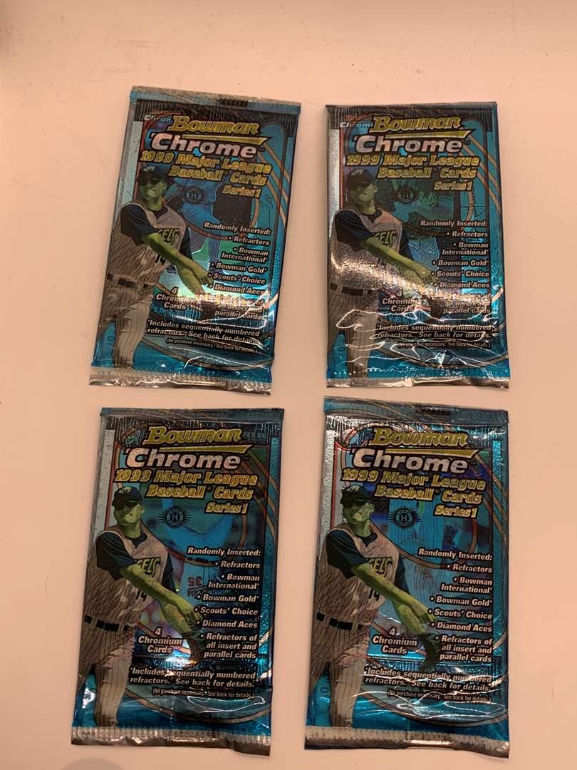 Lot # 77 Lot of FOUR 1999 Bowman Chrome Sealed Packs (main image)