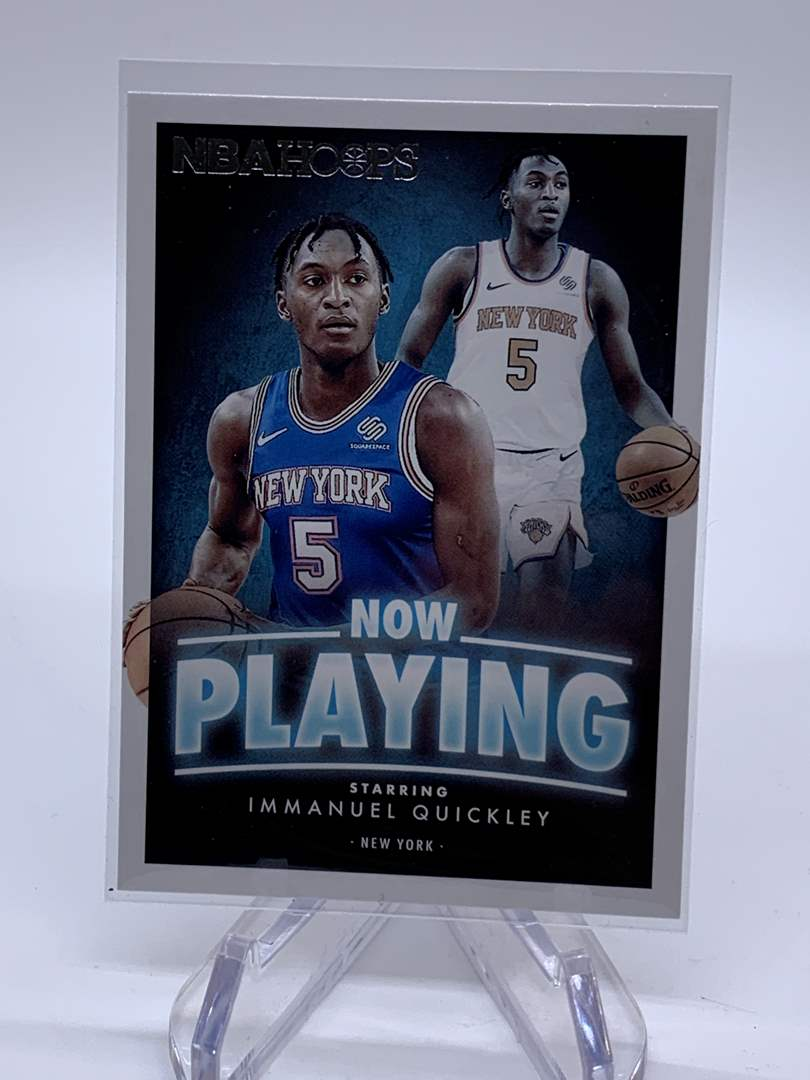 Lot # 117 2020-21 Panini Hoops IMMANUEL QUICKLEY Now Playing (main image)
