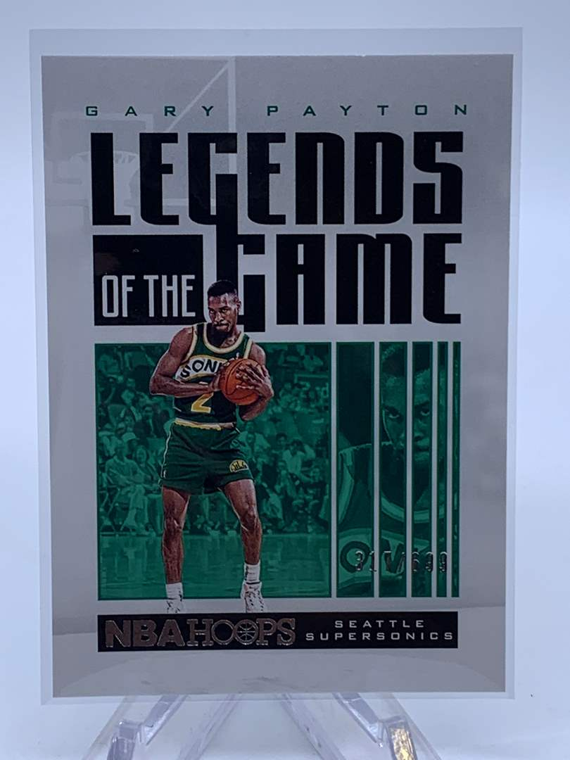 Lot # 124 2020-21 Panini Hoops GARY PAYTON Legends of the Game #317/699 (main image)