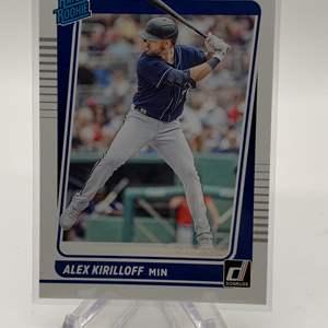 Lot # 62 2021 Panini Donruss Baseball ALEX KRILLOFF Rated Rookie
