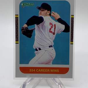 Lot # 72 2021 Panini Donruss Baseball ROGER CLEMENS 354 Career Wins