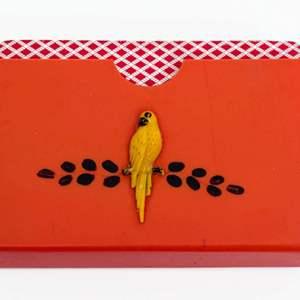 Art Deco Celluloid Card Holder
