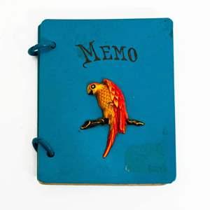 Art Deco Celluloid Memo Pad