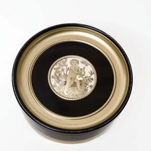 Large Storage Tin with Cherubs