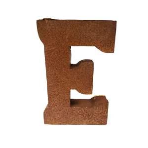 Big Rusty Metal Letter E