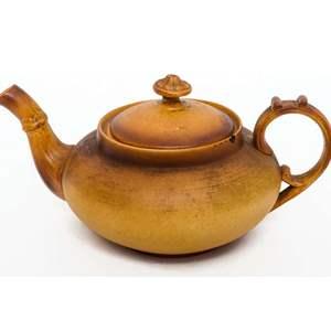 French Bamboo Motif Teapot